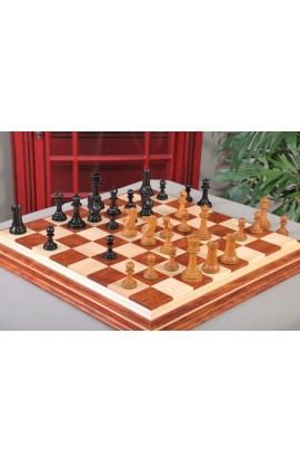 "IMPERFECT - The Paulsen Series Luxury Chess Pieces - 4.4"" King - Antiqued Boxwood & Genuine Ebony"
