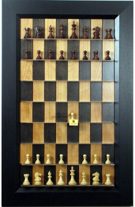 Straight Up Chess Board - Black Cherry Series with Flat Black Frame
