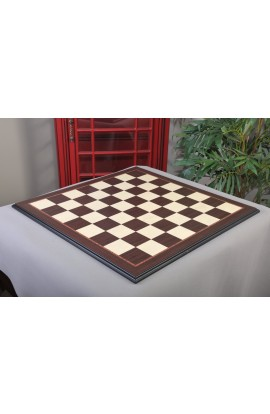 "IMPERFECT - Striped Ebony and Bird's Eye Maple Standard Traditional Chess Board - 3"" Squares"