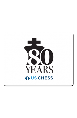 PRE-ORDER - US Chess Federation 80th Anniversary - Mousepad - White