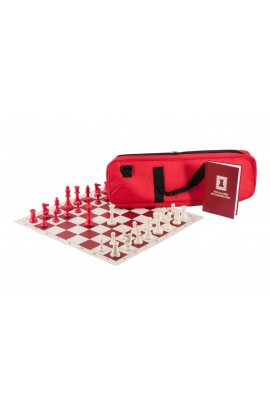 The Chess Player's Color Combination - Single Weighted Regulation Pieces | Vinyl Chess Board | Deluxe Bag | Luxe Scorebook