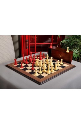 The Large Classical Staunton Series Chess Set, Box, & Board Combination