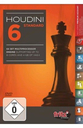 Houdini 6 Chess Playing Software Program - STANDARD EDITION