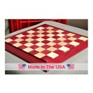 """Custom Contemporary Chess Board - Purpleheart / Curly Maple - 2.5"""" Squares"""