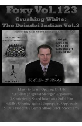 E-DVD Crushing White: The Dzindzi Indian Volume 3 - Foxy Chess Openings Volume 123