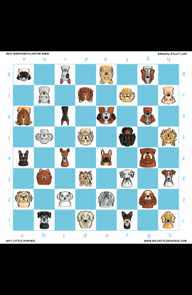 Little Puppies - Full Color Vinyl Chess Board