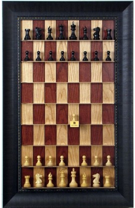 Straight Up Chess Board - Red Cherry Series with Rugged Expresso Frame