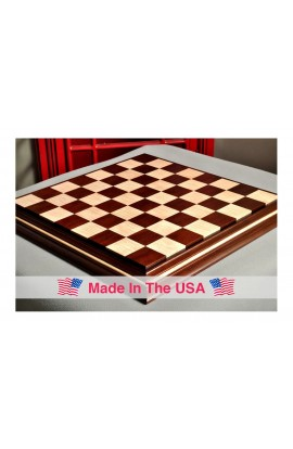 "Signature Contemporary II Chess Board - Peruvian Nogal / Curly Maple - 2.5"" Squares"