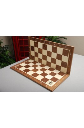 Folding Walnut and Maple Wooden Tournament Chess Board