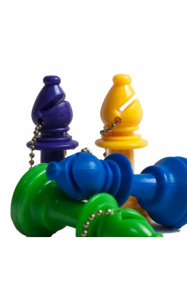 Plastic Chess Pieces Key Chains - Color Bishop