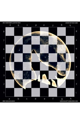 Howling Moon - Full Color Vinyl Chess Board