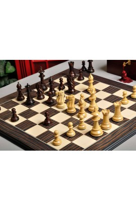 The Royale Chess Set, Box, and Board Combination