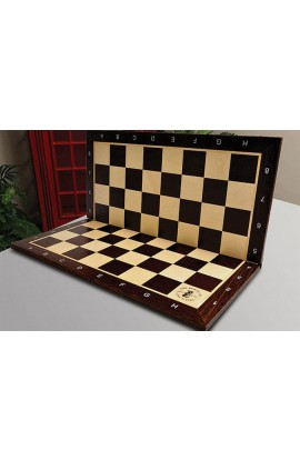 Folding African Palisander and Maple Wooden Tournament Chess Board