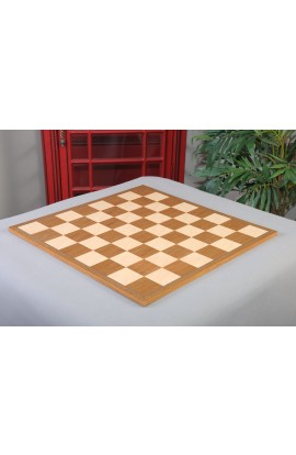 "IMPERFECT - Teak and Bird's Eye Maple Standard Traditional Chess Board - 2.75"" Squares"
