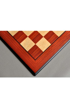 Coral Ash and Bird's Eye Maple Standard Traditional Chess Board