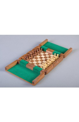 IMPERFECT - ULTIMATE WOODEN Magnetic Travel Chess Set