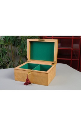 IMPERFECT - Premium Chess Box - Bird's Eye Maple w/ Logo