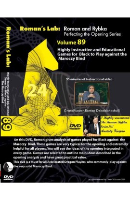 E-DVD ROMAN'S LAB - VOLUME 89 - Highly Instructive and Educational games for Black against the Maroczy Bind