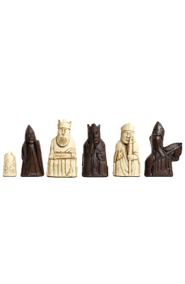 "The Isle of Lewis Chess Pieces - 3.5"" King - BROWN & NATURAL"