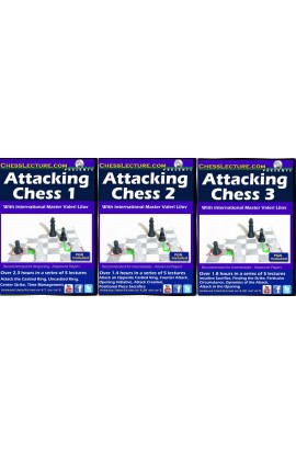 Attacking Chess Set - 3 DVDs - Chess Lecture