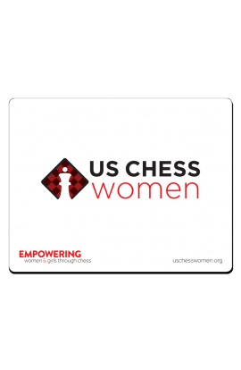 US Chess Women - Mousepad - White