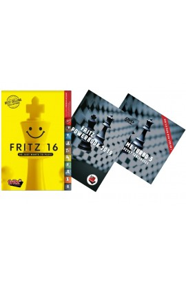 Fritz 16 + Fritz Powerbook 2019 + Endgame Turbo 5 - Ultimate Fritz Chess Software Bundle