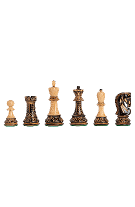 "The Burnt Zagreb '59 Series Chess Pieces - 3.875"" King"