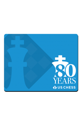 PRE-ORDER - US Chess Federation 80th Anniversary - Mousepad - Blue