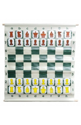 """28"""" Pouch-Style Chess Demonstration (Teaching) Board Set with Deluxe Carrying Bag"""