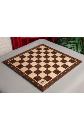 Smoked Oak and Maple Wooden Tournament Chess Board
