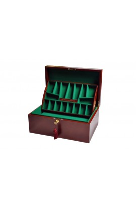 The House of Staunton *NEW* Fitted Coffer Chess Box - Mahogany