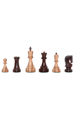 """The Exotique Collection® - The Zagreb Series Luxury Chess Pieces - 3.875"""" King - Indian Rosewood"""