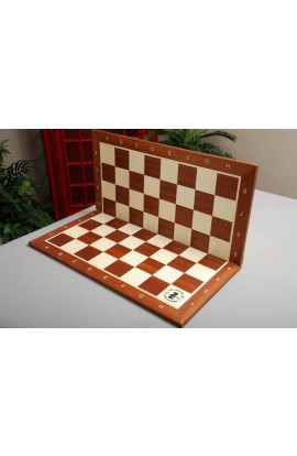 Folding Mahogany and Maple Wooden Tournament Chess Board