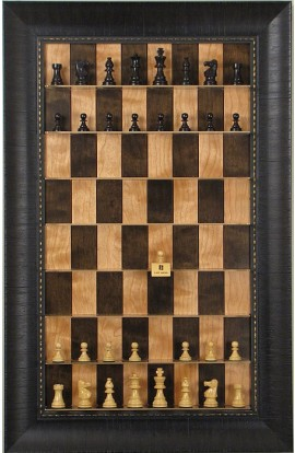 Straight Up Chess Board - Cherry Bean Series with Rugged Expresso Frame