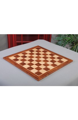 "Prototype - Standard Traditional Wooden Chess Board - SANTOS PALISANDER / MAPLE / SANTOS PALISANDER FRAME - 1.75"" Squares"