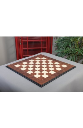 "IMPERFECT - Elm Burl and Bird's Eye Maple Superior Traditional Chessboard - 2.25"" Squares"