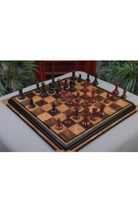 """IMPERFECT - The Sultan Series Prestige Chess Pieces - Blood Rosewood & Genuine Ebony - 4.4"""" King"""