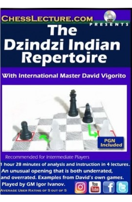 E-DVD The Dzindzi Indian Repertoire - Chess Lecture - Volume 176