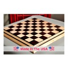 """Signature Contemporary II Chess Board - Curly Maple / African Palisander - 2.5"""" Squares"""
