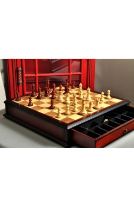 The Reykjavik II Series Tournament Chess Set and Tiroir Combination