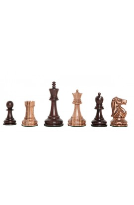 """The Exotique Collection® - The Fischer Spassky Series Luxury Chess Pieces - 3.75"""" King - With Indian Rosewood"""