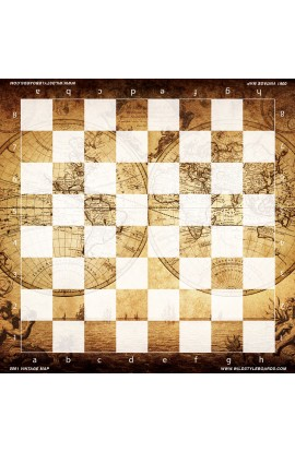 Vintage Map - Full Color Vinyl Chess Board