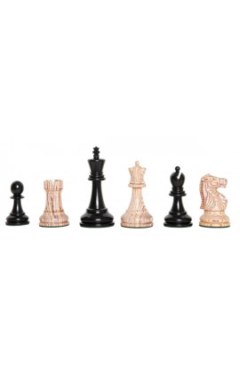"""The Exotique Collection® - The Fischer Spassky Series Luxury Chess Pieces - 3.75"""" King - With Genuine Ebony"""