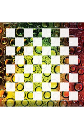 Waterdrops  - Full Color Vinyl Chess Board