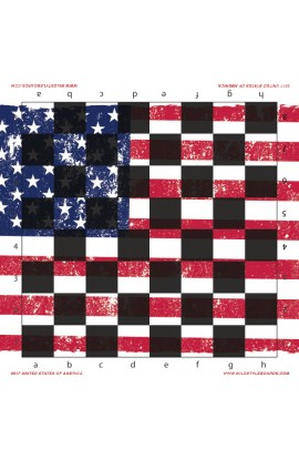United States of America - Full Color Vinyl Chess Board