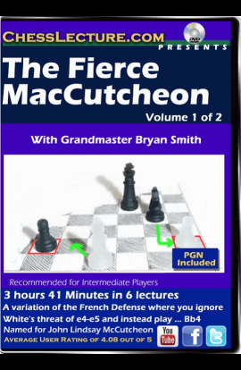 The Fierce McCutcheon - 2 DVDs - Chess Lecture - Volume 147