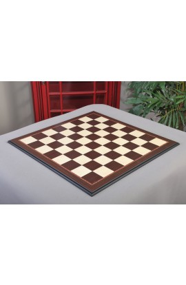 """IMPERFECT - Striped Ebony and Bird's Eye Maple Standard Traditional Chess Board - 2.5"""" Squares"""