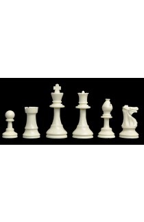 """Solid Regulation Plastic Chess Pieces - 3.75"""" King"""