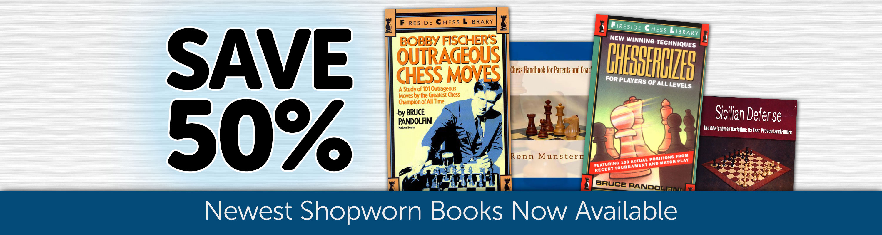 New Shopworn Books - Save 50%