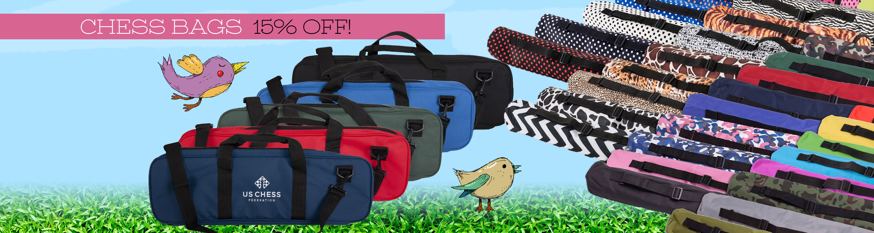 Chess Bags 15% Off